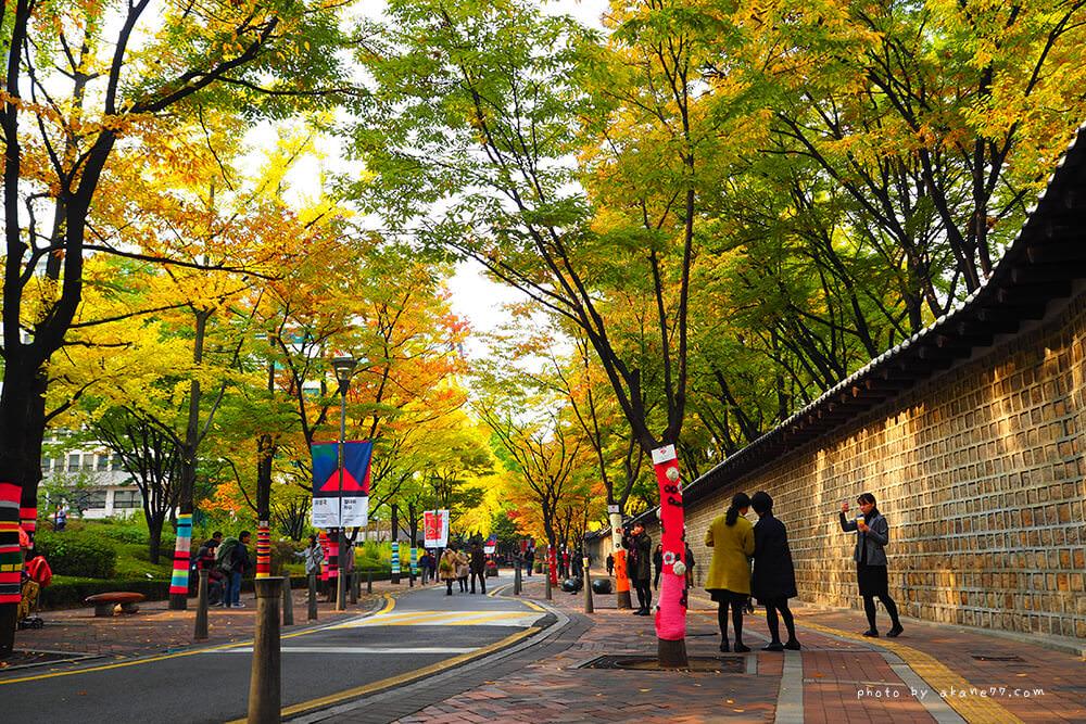 韓國首爾連線日記 Day1 石牆路賞銀杏秋楓 時代廣場逛超市