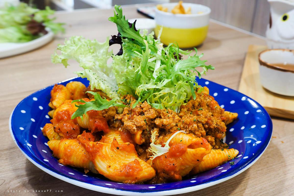 經典番茄肉醬貝殼麵 屋莎鬆餅屋woosa
