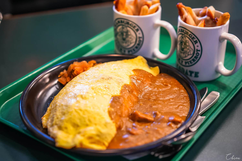 北海道函館必吃美食「幸運小丑漢堡」蛋包飯咖哩