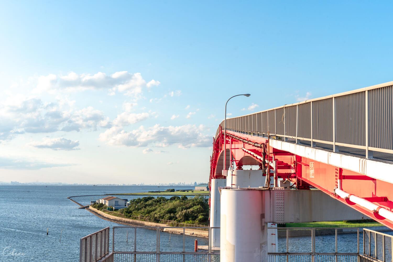 日本千葉景點 木更津中之島大橋