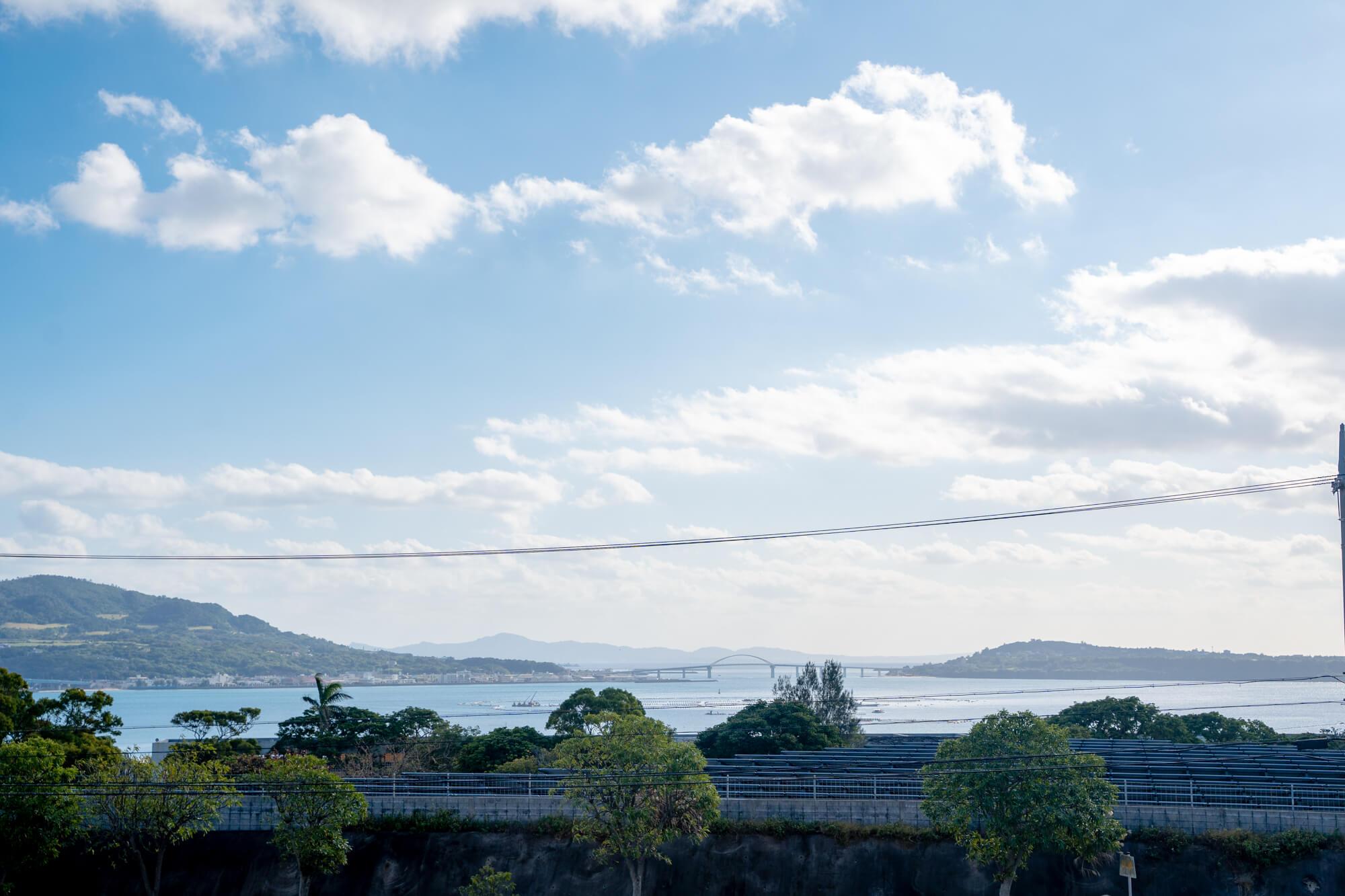 Hanasaki Marche沖繩北部美麗水族館 冰淇淋海景