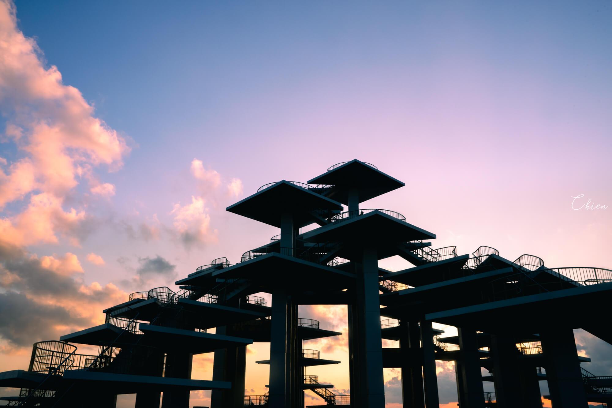 千葉富士山景點 富津公園明治百年記念展望塔