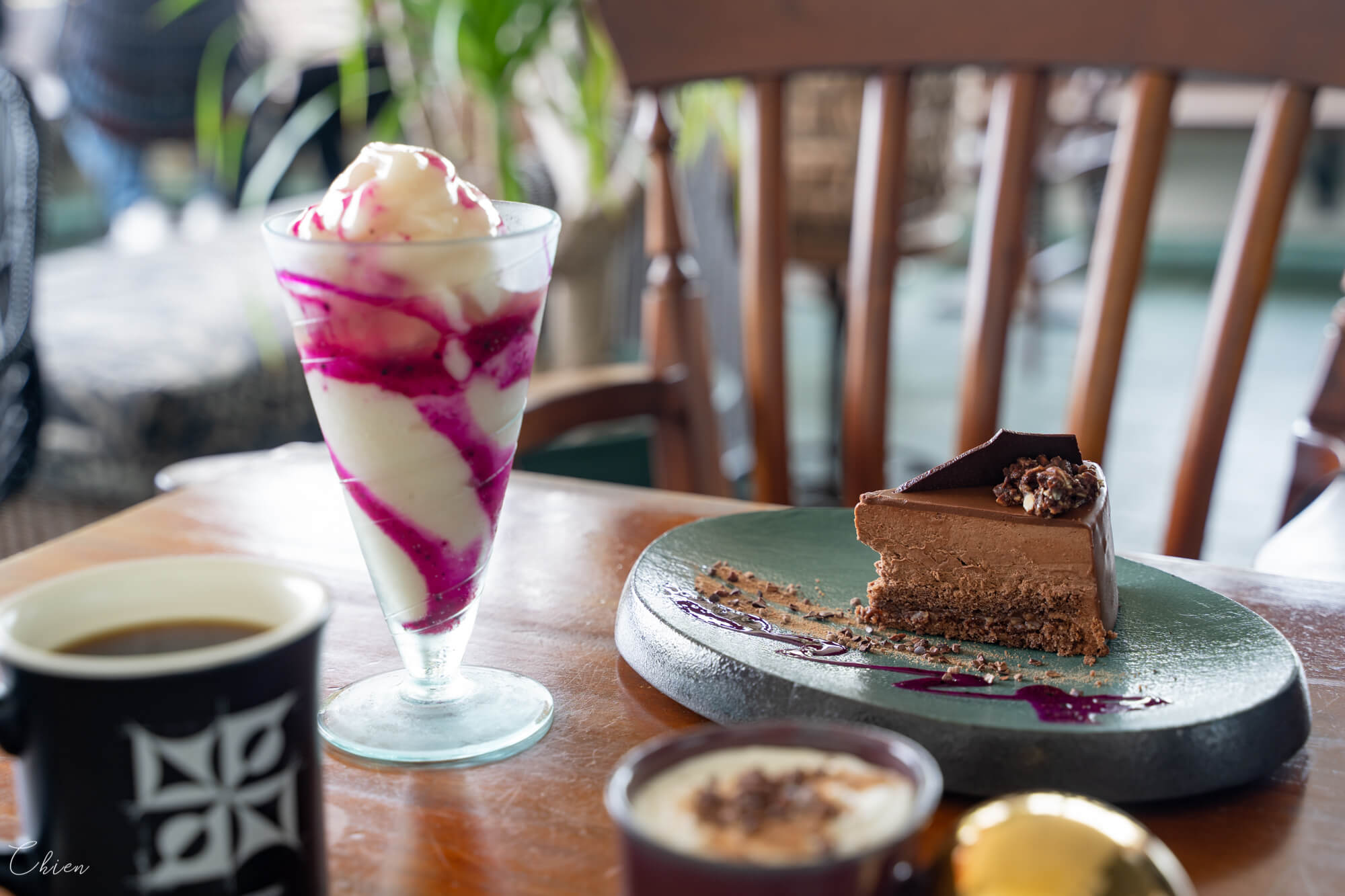 沖繩美國村海景美食 timeless chocolate 巧克力專賣咖啡廳甜點