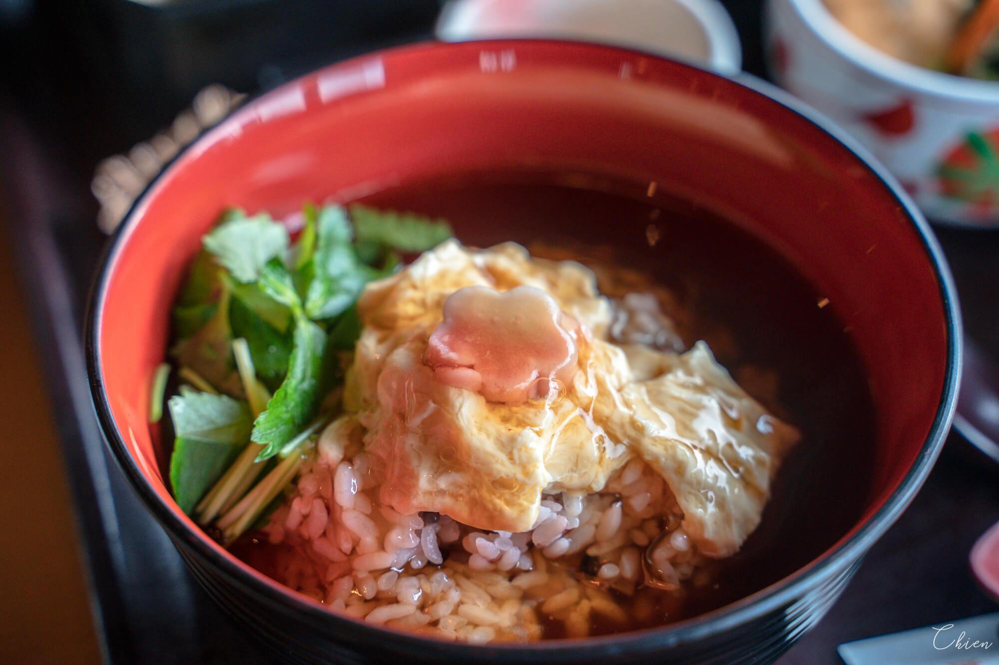 京都嵐山美食「嵯峨とうふ 稲」燴飯