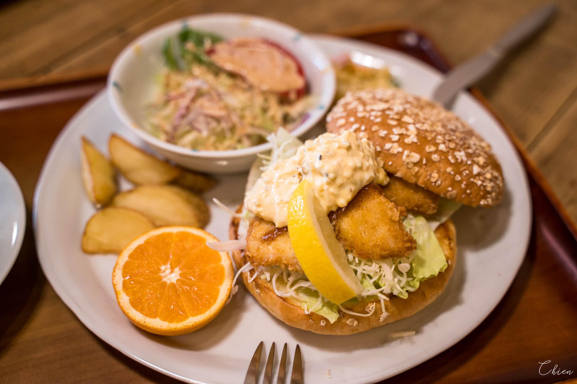 愛媛道後溫泉 鯛魚漢堡午餐