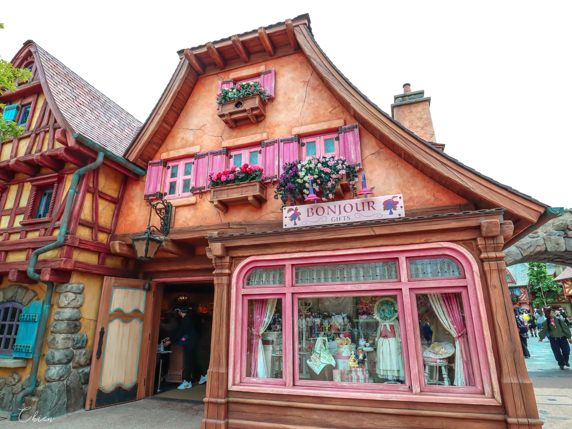 迪士尼樂園 美女與野獸城堡商店街
