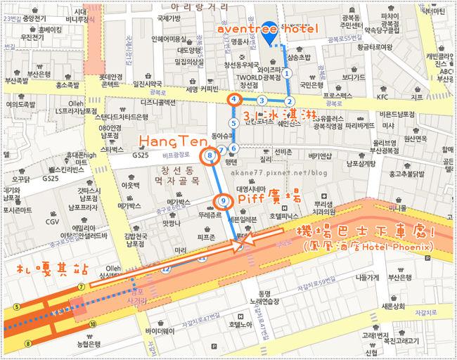 Aventree Hotel Busan 地圖